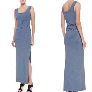 NWT! Nicole Miller Jersey Stripe Maxi Dress